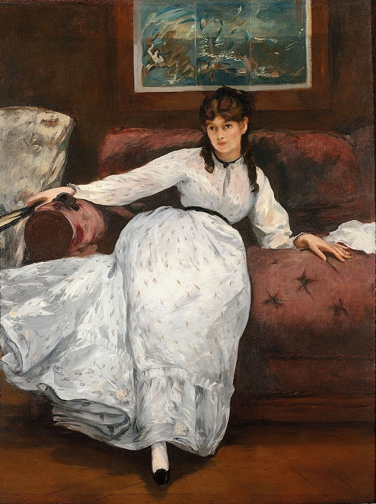 Portrait of Berthe Morisot by Eduoard Manet