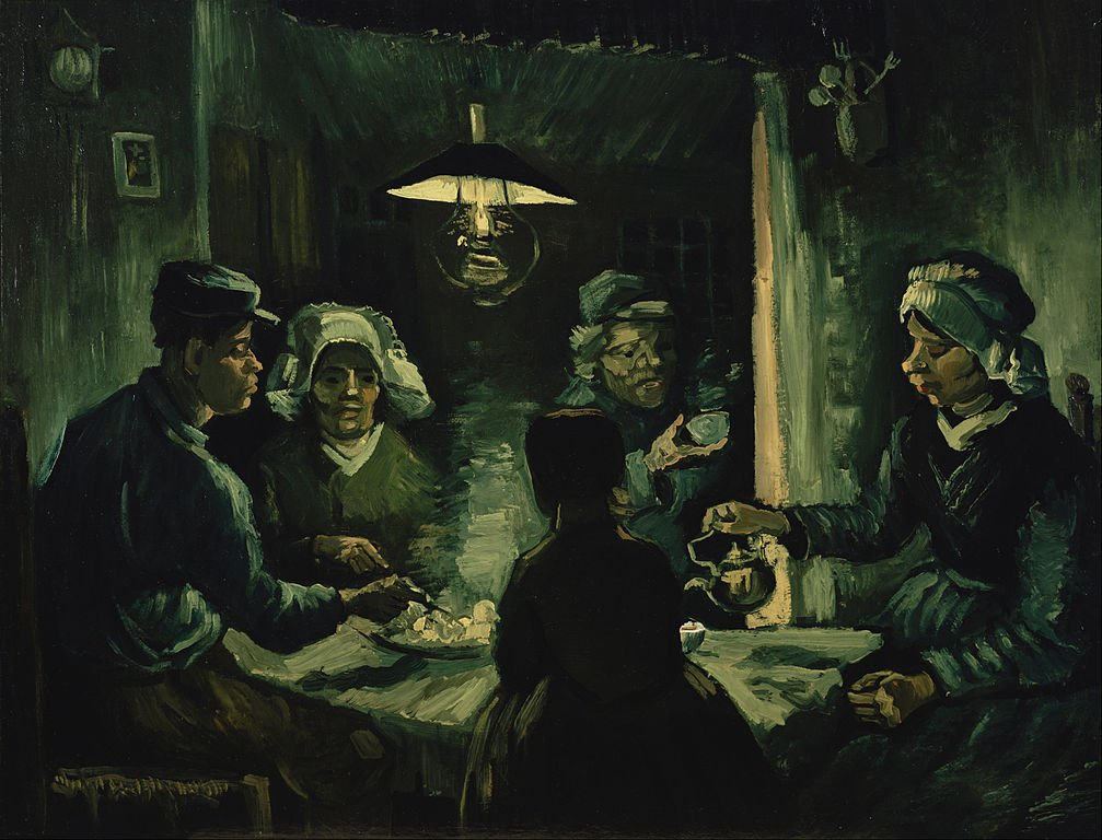 Potato Eaters - one of the most famous Van Gogh Paintings