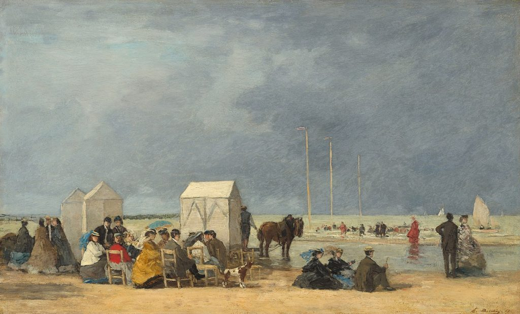 Deauville Normandy - Eugene Boudin painting