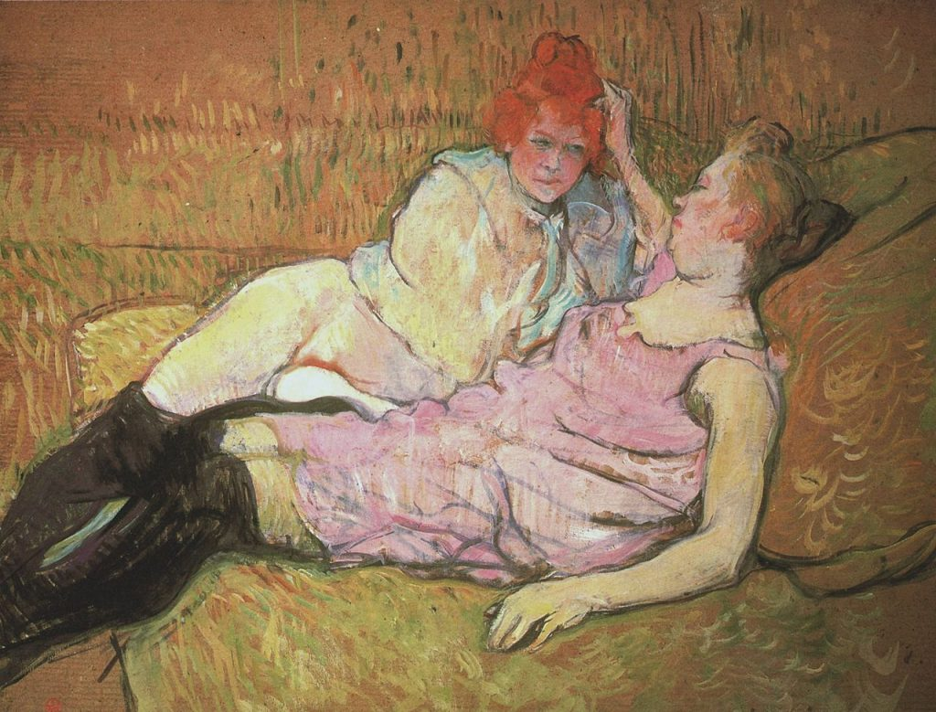 Henri Toulouse Lautrec Painting of two prostitutes