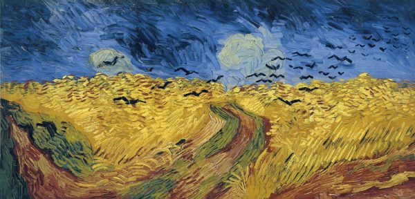 Vincent Van Gogh famous painting - Wheatfield with Crows