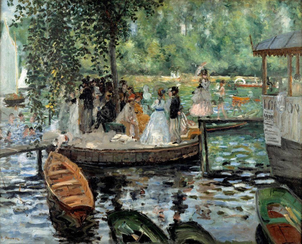 'La Grenouillère' at Croissy-sur-Seine - Pierre-August Renoir Painting