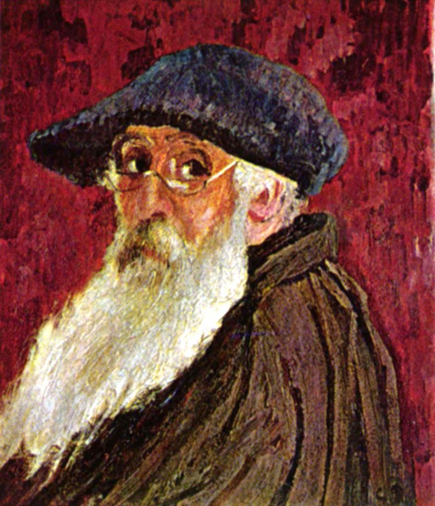 Self-Portrait with Beret and Spectacles - 1903 - Camille Pissarro