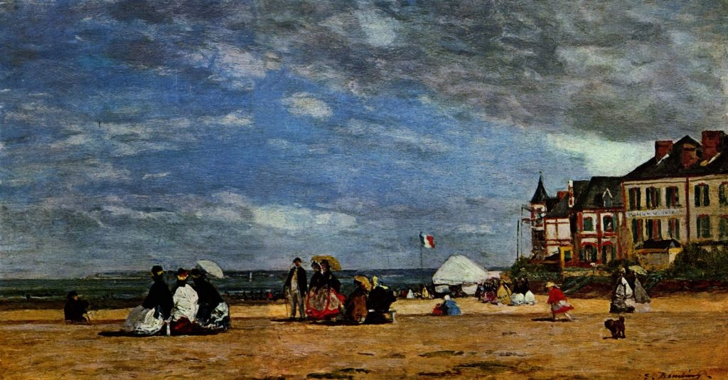 Trouville Beach- Euguene Boudin painting