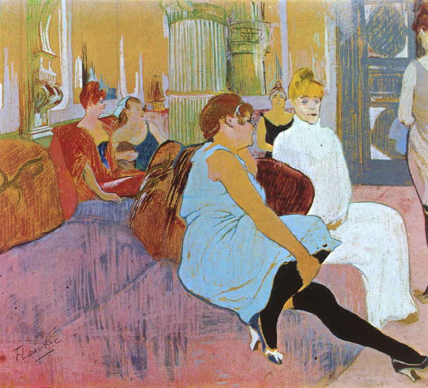 The Prostitutes of Montmartre - Henri Toulouse Lautrec Painting