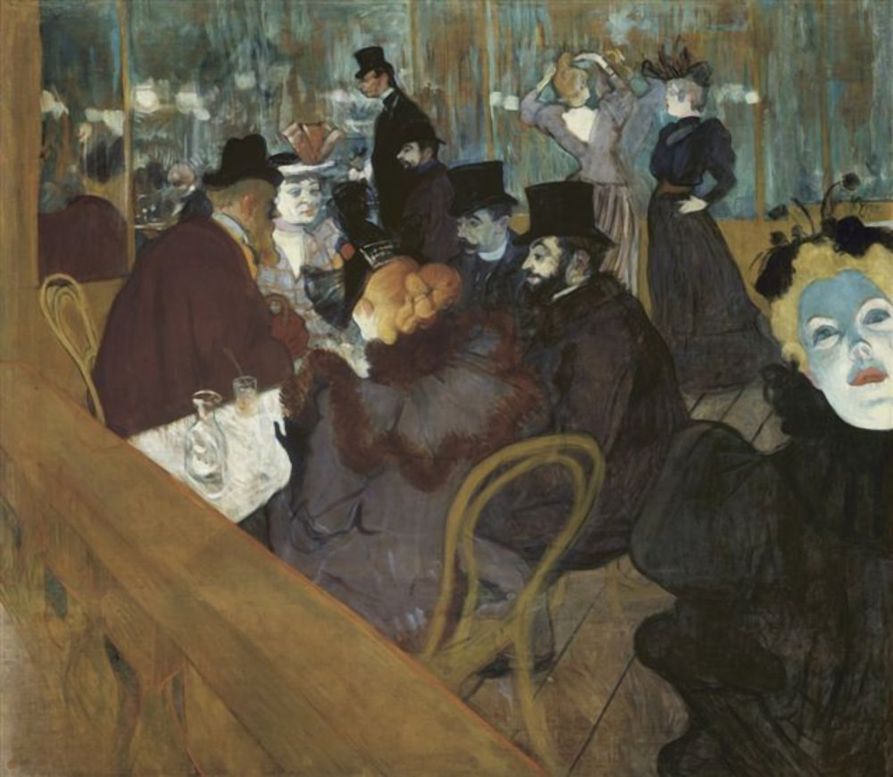 The Nightlife in The Moulin Rouge - Henri Toulouse Lautrec Painting