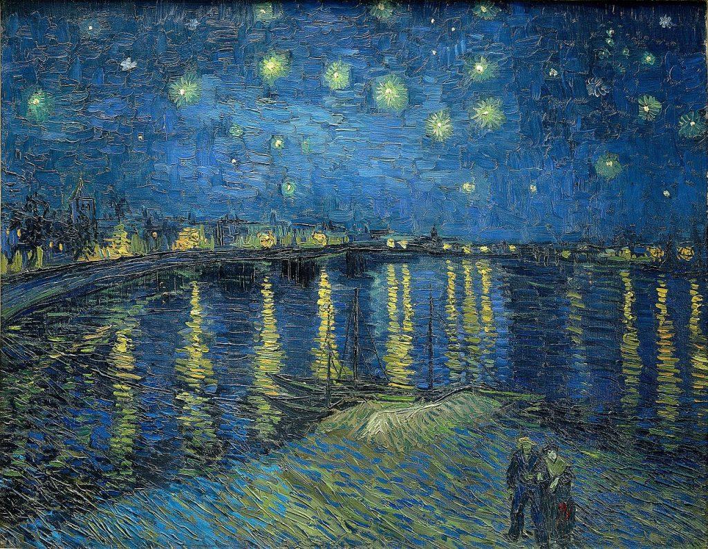 Musee D Orsay- Van Gogh Starry Night over the Rhone, Arles (1888)