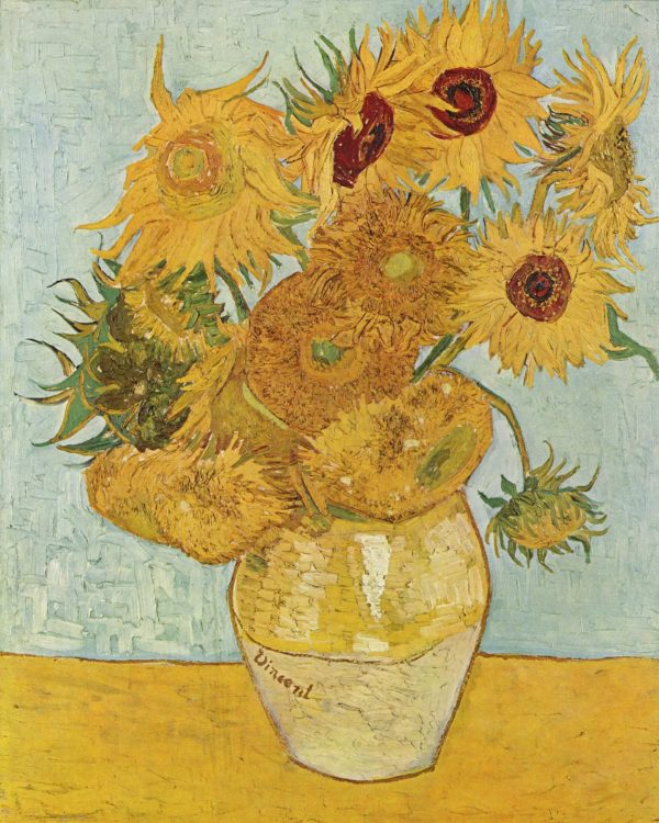 Sunflowers Van Gogh painting