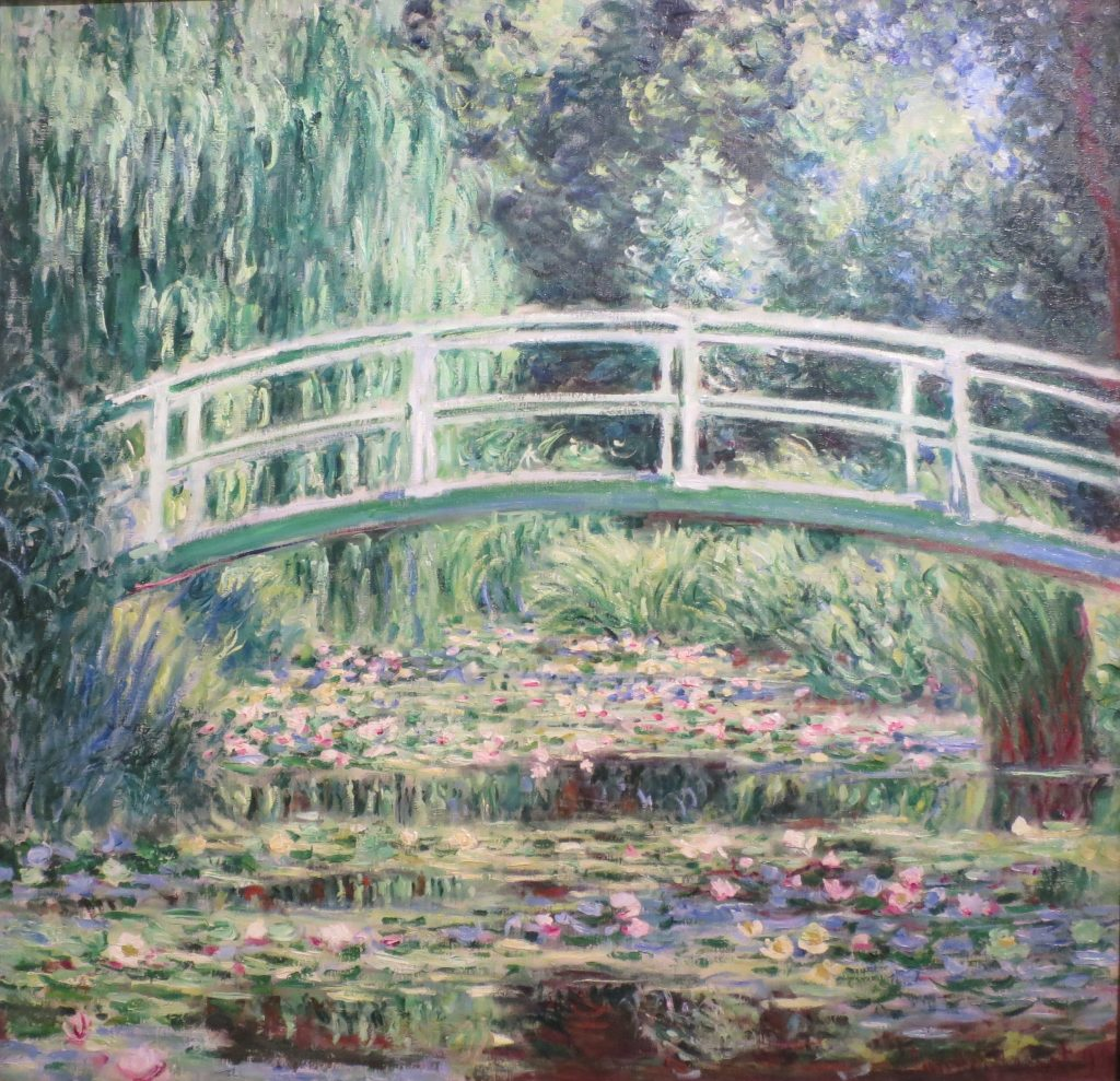 Japanese bridge painting- One of Monets most famous paintings