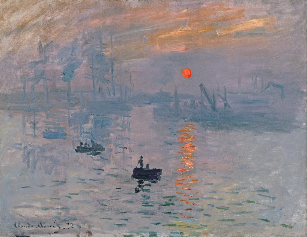 One of the most famous Monet Paintings: Impression, Sunrise 1872