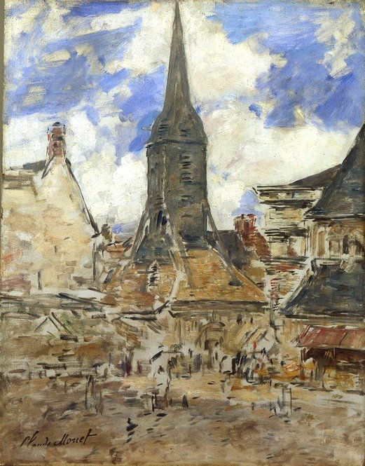 Claude Monet Painting of Honfleur