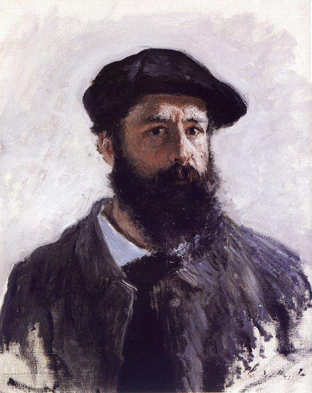 Claude Monet Self Portrait Painting