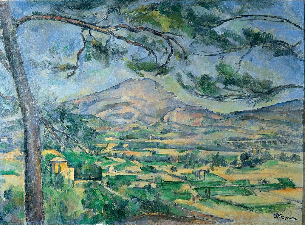 Mont Sainte-Victoire Landscape by Paul Cezanne