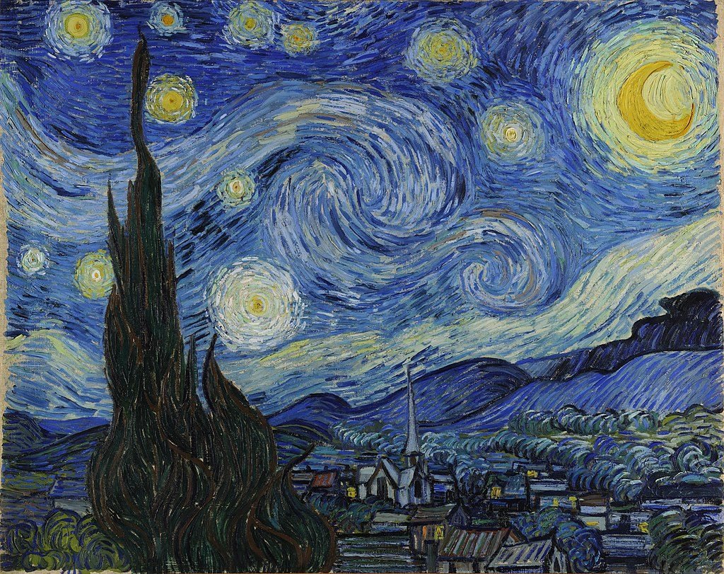 The Starry Night Van Gogh painting
