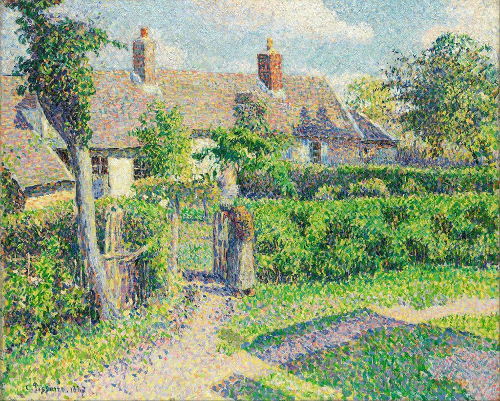 Camille Pissarro Pointillism Painting [Public Domain]