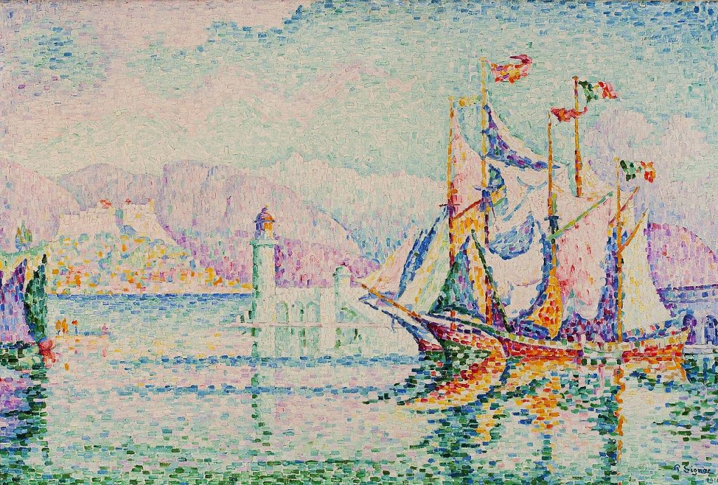 Painting of Antibes by Paul Signac - neoimpressionism