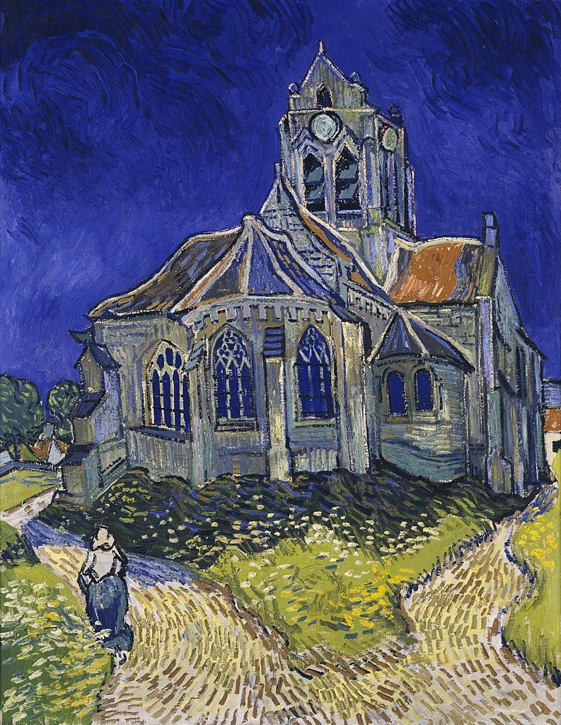 Musee D'Orsay:Van Gogh painting of the Church in Auvers-sur-Oise