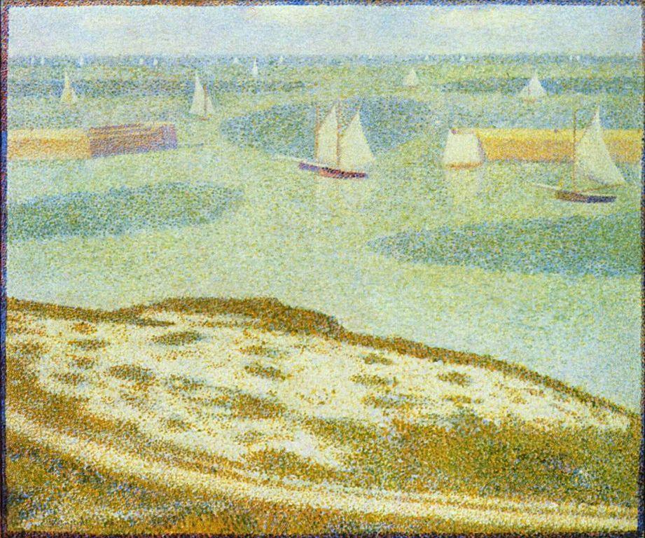 Port-en-Bessin, Normandy - Georges Pierre Seurat