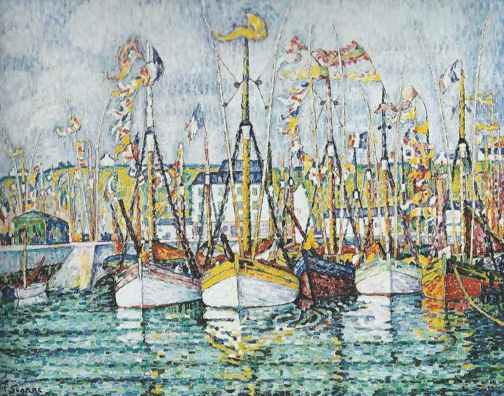 Neoimpressionism painting by Paul Signac