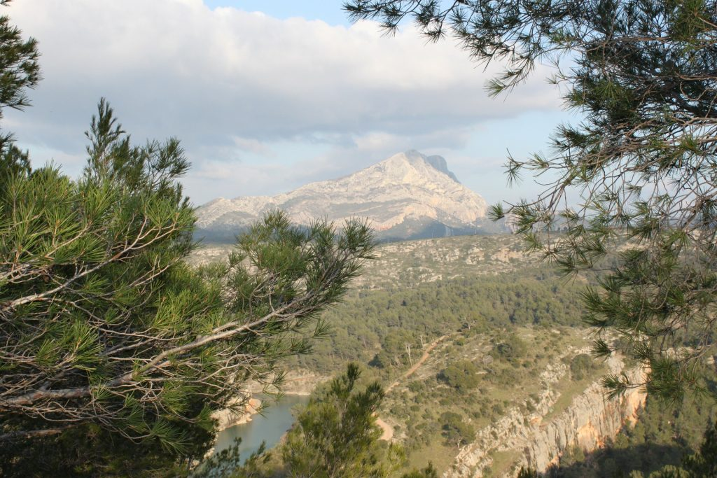 The view of Mont Sainte Victoire from Aix-en-Provence
