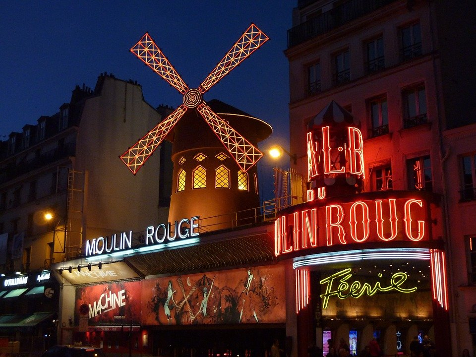 photo of the Moulin Rouge Night Club in Paris