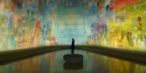 Massive mural at the Modern Art Museum in Paris