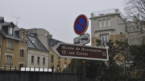 Montmartre Museum street sign