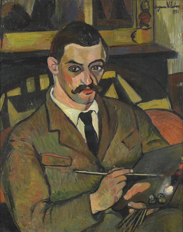 Portrait of her son: Maurice Utrillo.  Suzanne Valadon painting