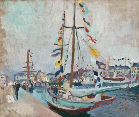 Le Havre port - Famous landscape by Raoul Dufy