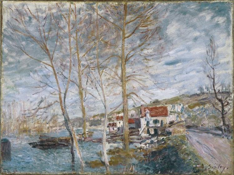 Flood in Moret - Alfred Sisley Paintings