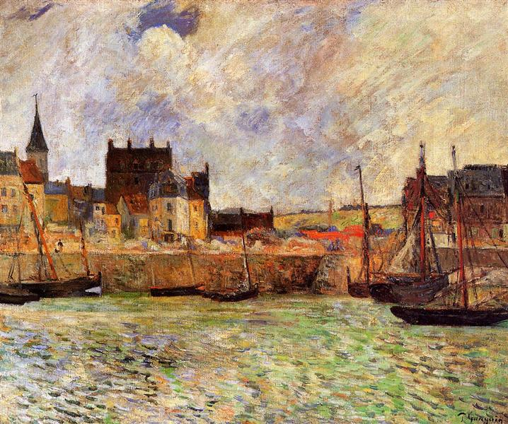 Dieppe Port painted by Paul Gauguin - Post Impressionism Artist