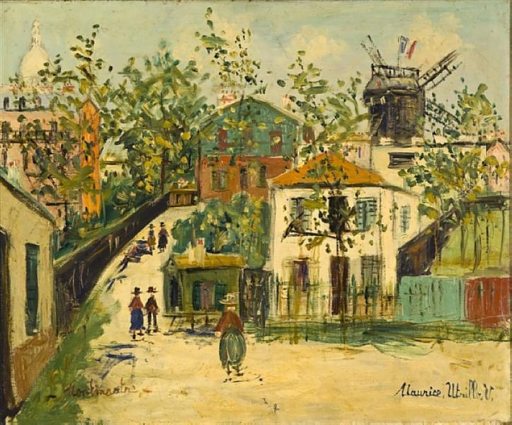 Maurice Utrillo painting of Montmartre, Paris