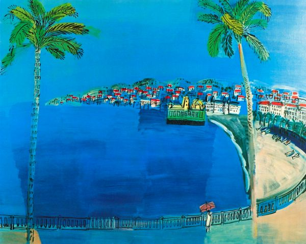 The Bay of Angles, Nice - Raoul Dufy Paintings