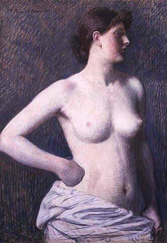 Portrait of Suzanne Valadon by the French Painter, Pierre Puvis de Chavannes  [Public Domain]