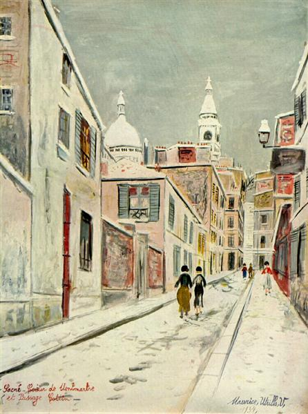Sacre-Coeur  - Painting by Maurice Utrillo