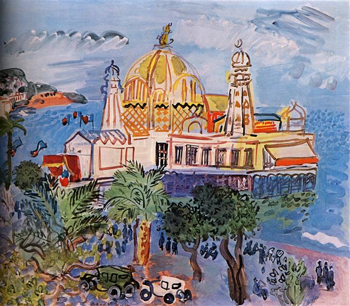 Raoul Dufy painting - The Casino of Nice
