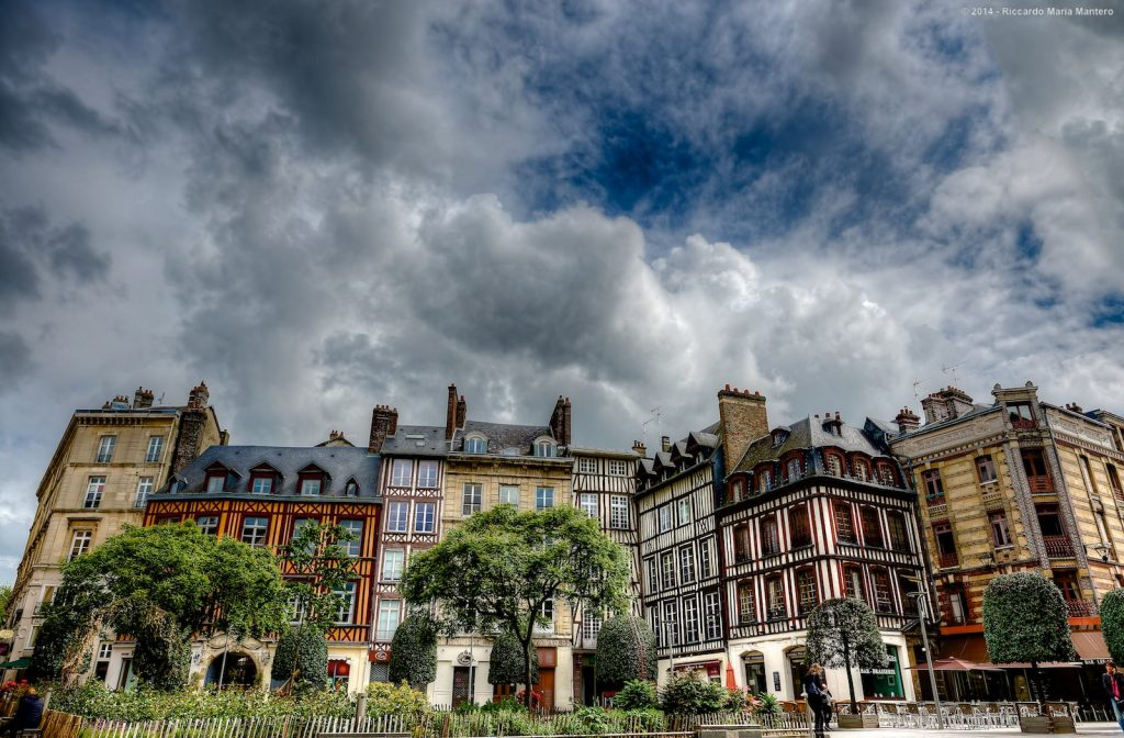 Norman architecture - half timbered houses - rouen travel