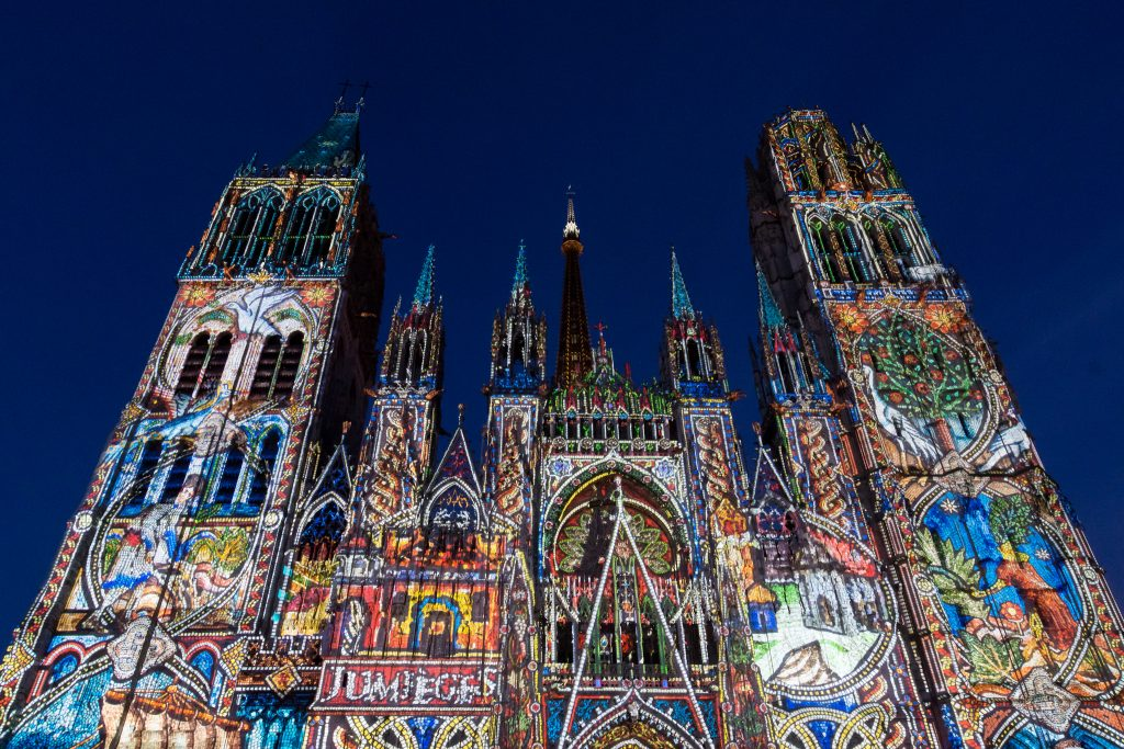 Sound and Light Show on the Rouen Cathedral