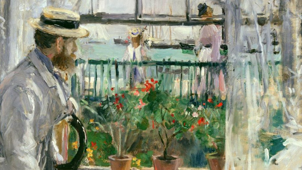 Berthe Morisot painting of her husband Eugene Manet