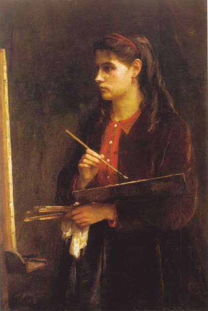 The painter Edma Morisot hardly mentioned in the history of impressionism