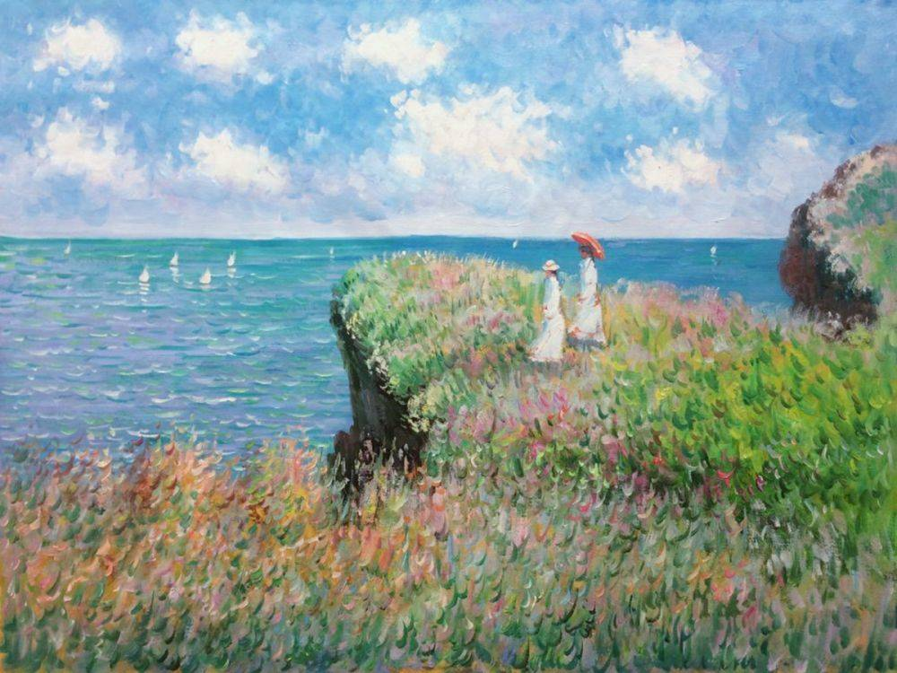 Claude Monet Famous Paintings - Alabaster Coast