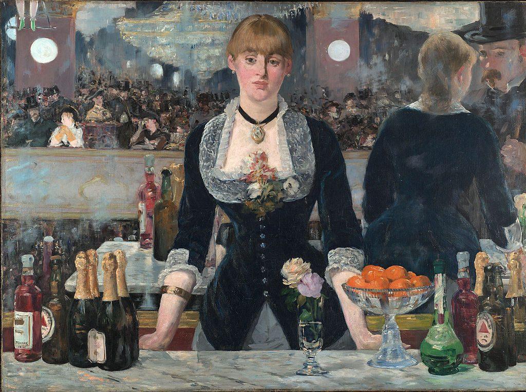 A Bar at the Folies Bergère - Edouard Manet Painting
