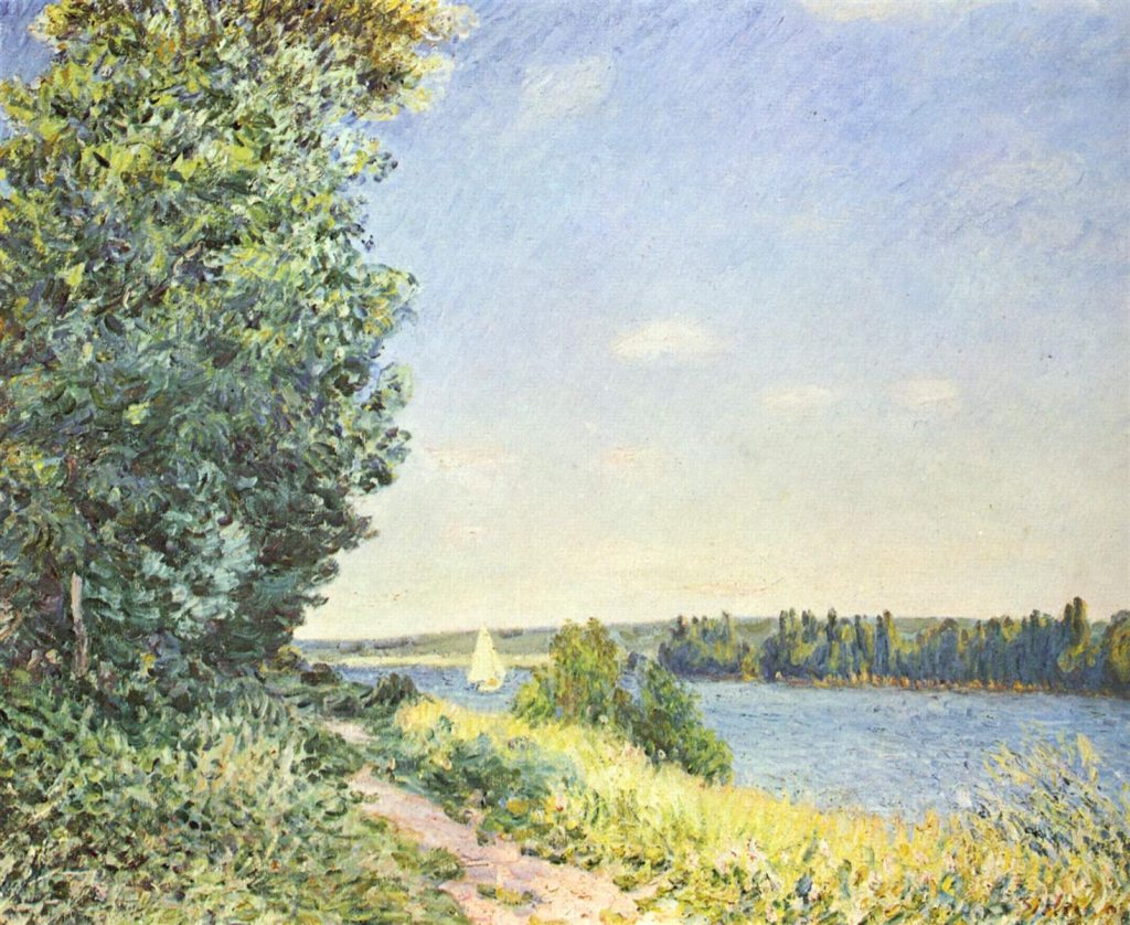 Alfred Sisley Painting during his time in Rouen, Normandy