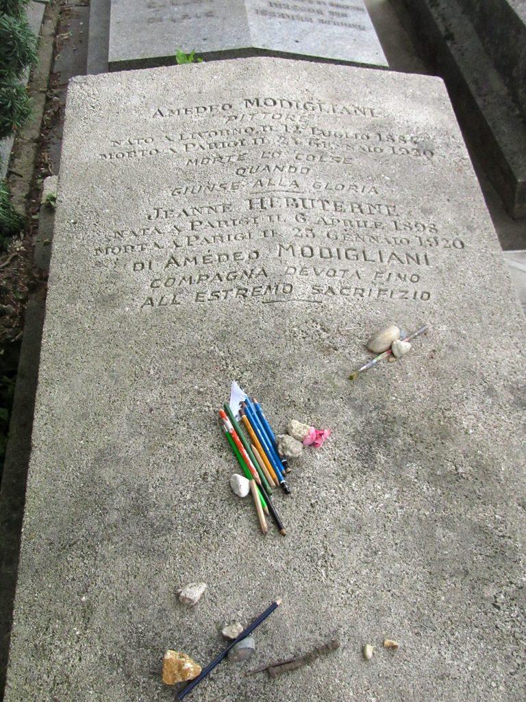 medeo Modigliani's Grave at Pere Lachaise, Paris