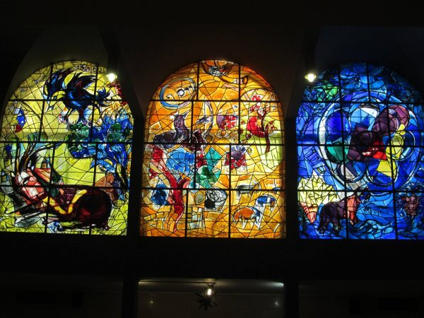 Chagall Windows in the Abbell synagogue, Jerusalem