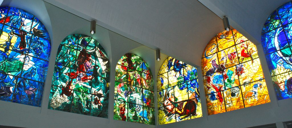 Marc Chagall Stained-Glass Windows, Jerusalem - Abbell Synagogue