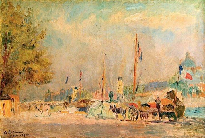 Paris Landscape - Albert Lebourg Painting