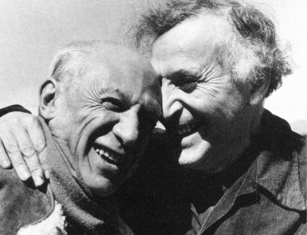 Photo of Pablo Picasso & Marc Chagall