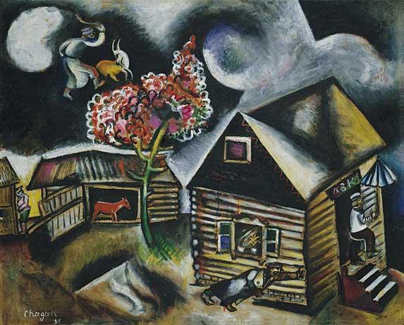 Marc Chagall Painting - La Pluie - The Rain 1911