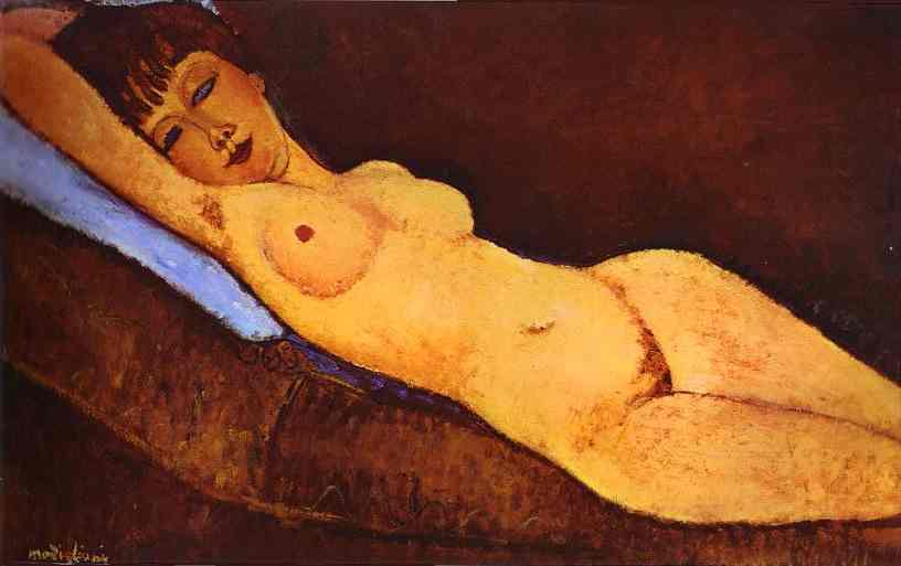 Modigliani painting of a nude woman